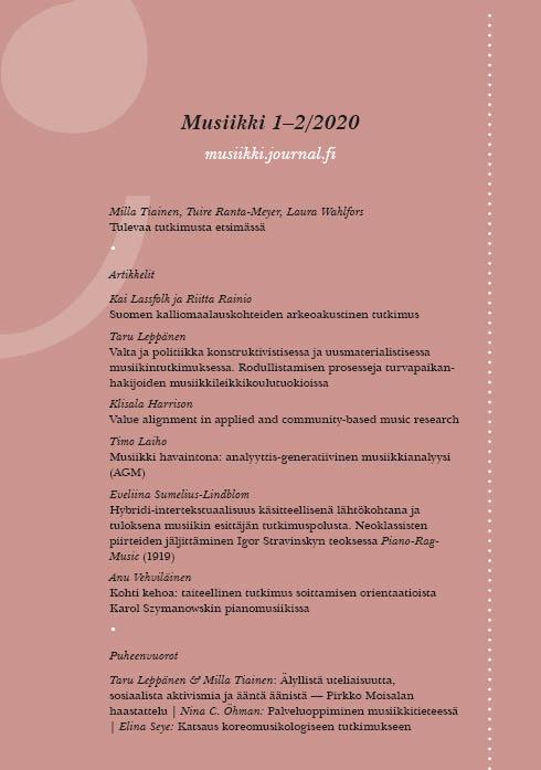 Vol 50 Nro 1-2 (2020): Musiikki 1-2_2020