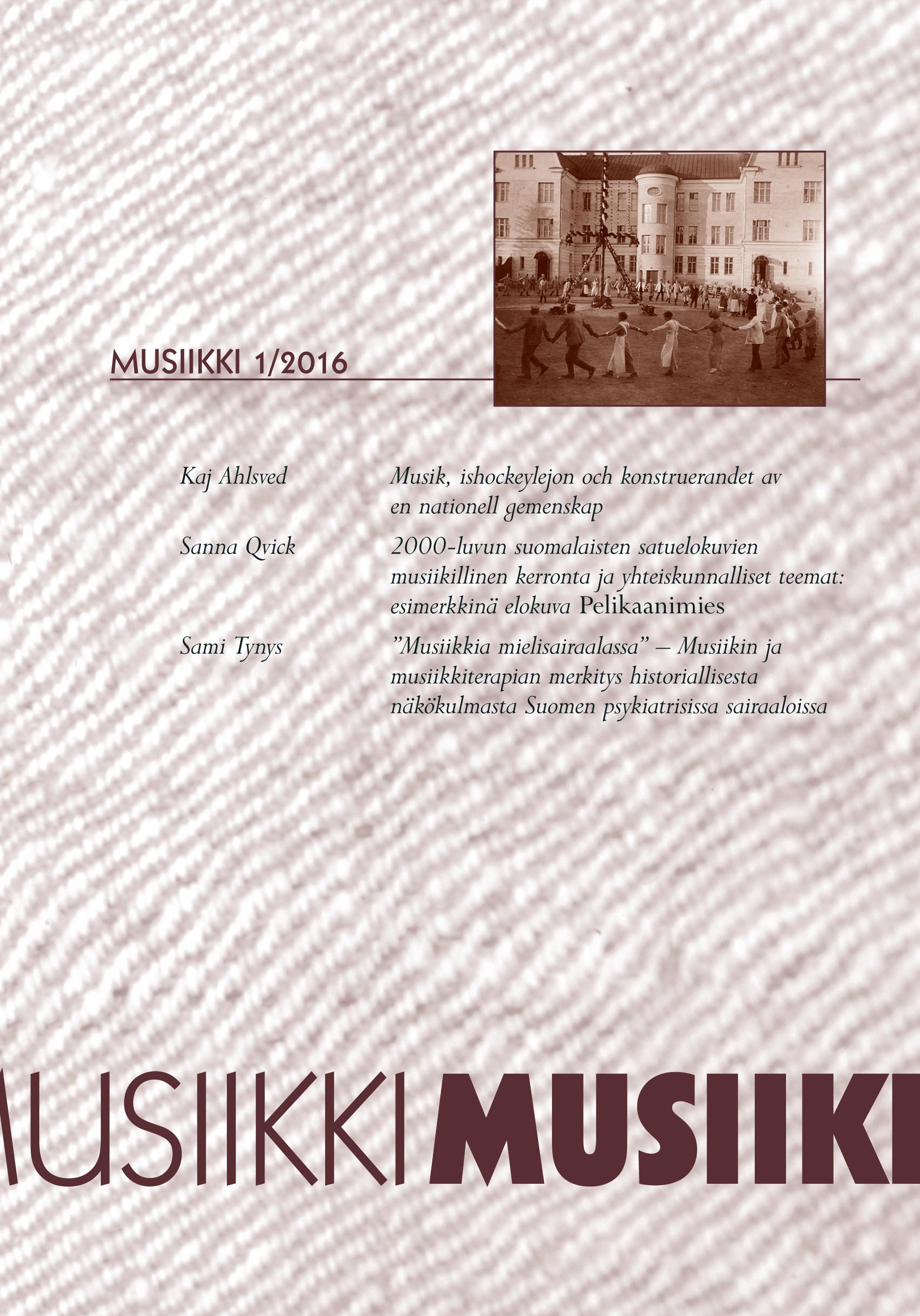 Vol 46 Nro 1 (2016): Musiikki 1/2016