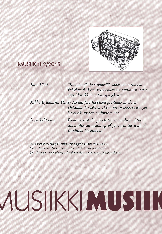 Vol 45 Nro 2 (2015): Musiikki 2/2015